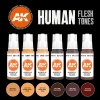 HUMAN FLESH TONES SET, 6x17ml