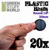 Plastic Bases, Round Lip, 30mm