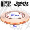Conductive Copper Tape, 3mm x 20meters