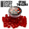 Cube Tokens, RED, 50x