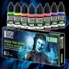 Fluor Paints Set, 8x17ml