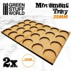 Movement Trays, MDF, 25mm, 3x4 Skirmish Lines