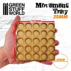 Movement Trays, MDF, 25mm, 5x5 Skirmish Lines
