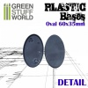Plastic Bases, Oval Pill, AOS, 60x35mm