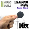 Plastic Bases, Round, BLACK, 40mm