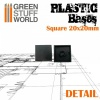 Plastic Bases, Square, 20x20mm