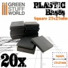 Plastic Bases, Square, 25x25mm