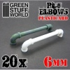 Plasticard Pipe ELBOWS 6mm