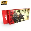 VIETNAM U.S. GREEN & CAMOUFLAGE PAINT SET