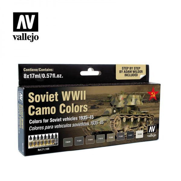 71188 Model Air Set - Soviet WWII Camo Colors (8)