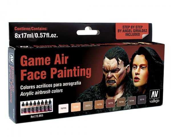 72865 Game Air Set: Face Painting by A. Giraldez (8x17ml)