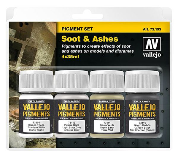 73193 Pigments Set - Soot & Ashes