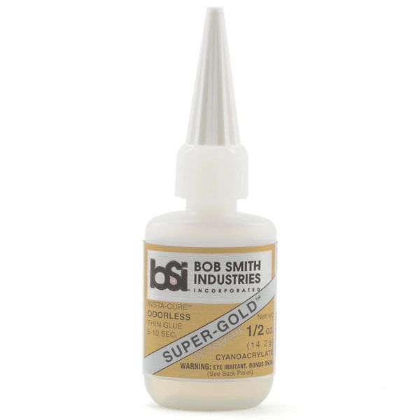BSI Super-Gold Odourless Foam Safe Thin CA Glue (0.5 oz)
