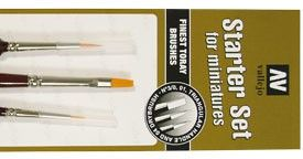 P15999 Starter Set (3 Pcs.)Round No.S 1 Y 3/0-Flat No.4 Paint Brushes