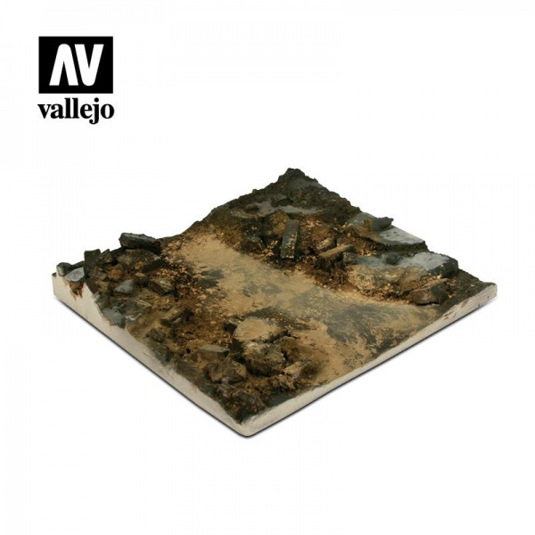 SC002 Vallejo Scenics: Rubble Street Section 14x14, 1:35 SCALE