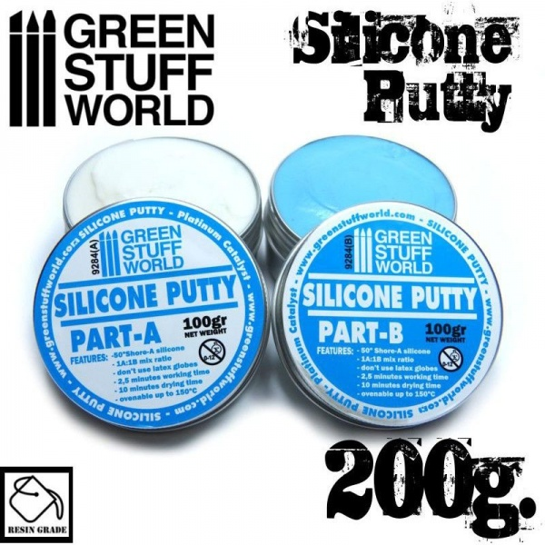 Silicone Putty, Blue/Violet, 200g
