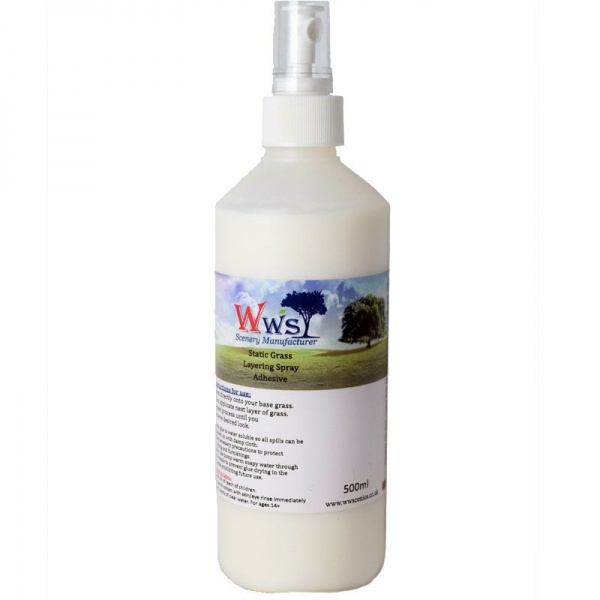 WWS Static Grass Layering Spray Adhesive, 500ml