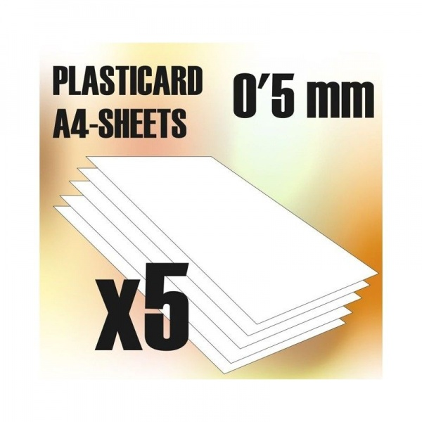 ABS Plasticard A4 - 0.5 mm COMBO, 5 sheets
