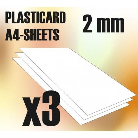 ABS Plasticard A4 - 2mm COMBO, 3 sheets