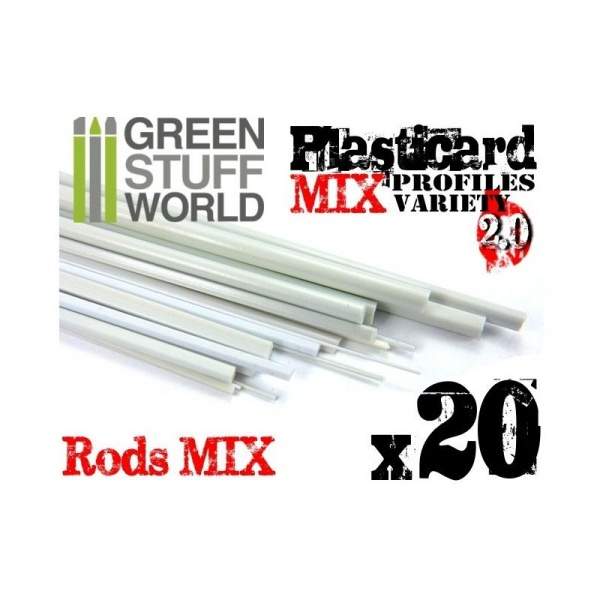 ABS Plasticard - Profile - 20x RODs Variety Pack