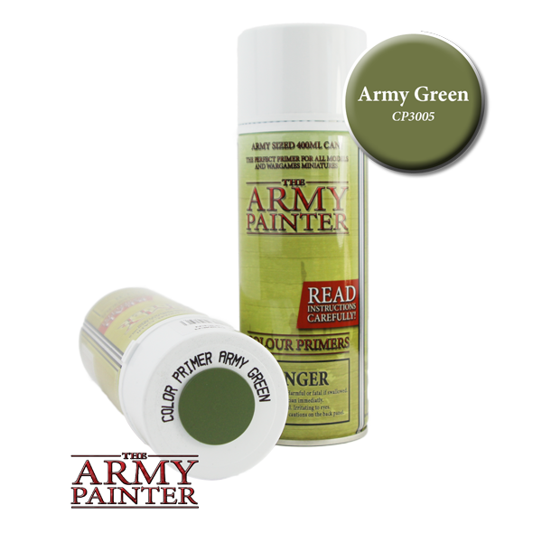 Colour Primer Spray - Army green, 400ml