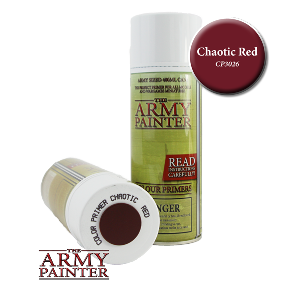 Colour Primer Spray - Chaotic Red, 400ml