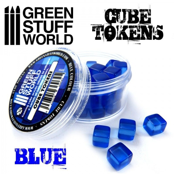 Cube Tokens, BLUE, 50x