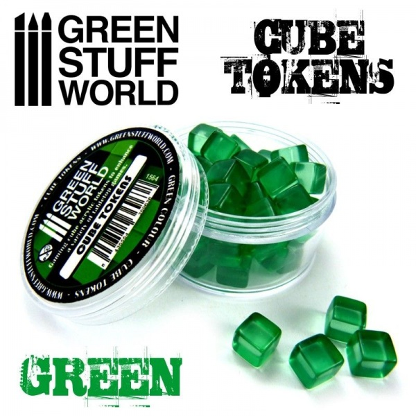 Cube Tokens, GREEN, 50x