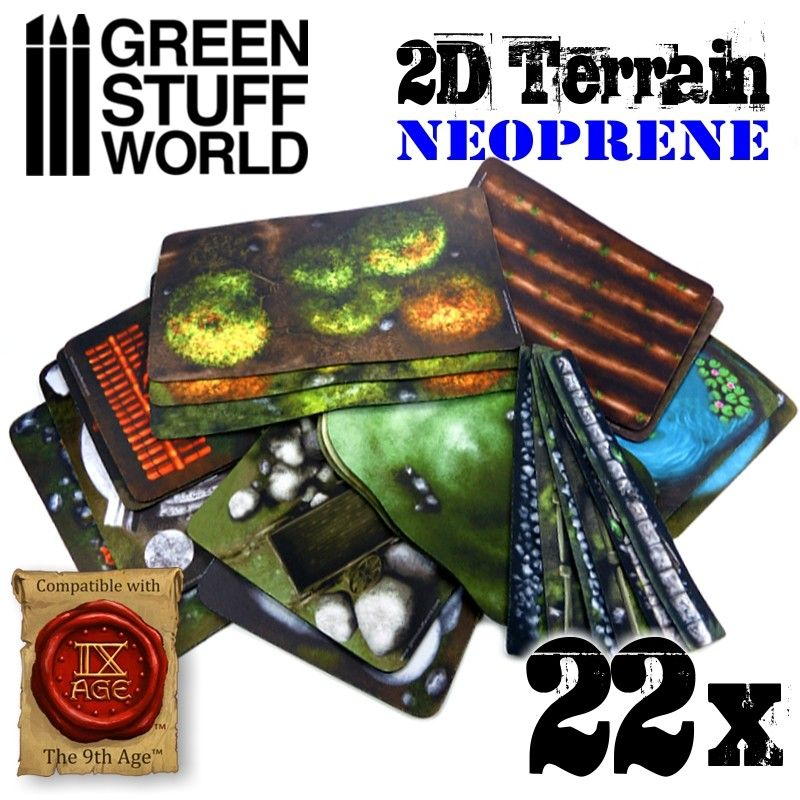 2D Assortment - Neoprene Terrain Set, 22pcs
