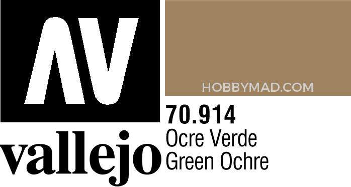 70914 Model Colour - Green Ochre 17ml