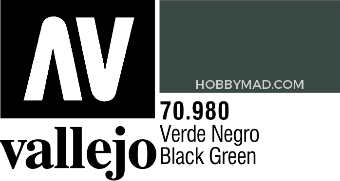70980 Model Colour - Black Green 17ml