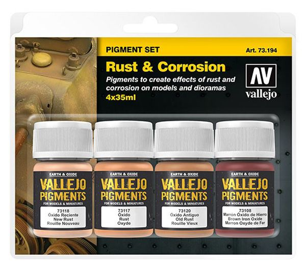 73194 Pigments Set - Rust & Corrosion