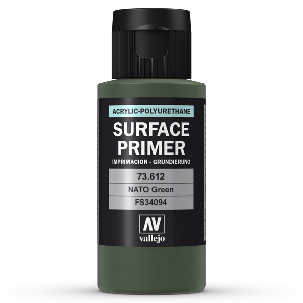 73612 Vallejo Surface Primer - NATO Green, 60ml