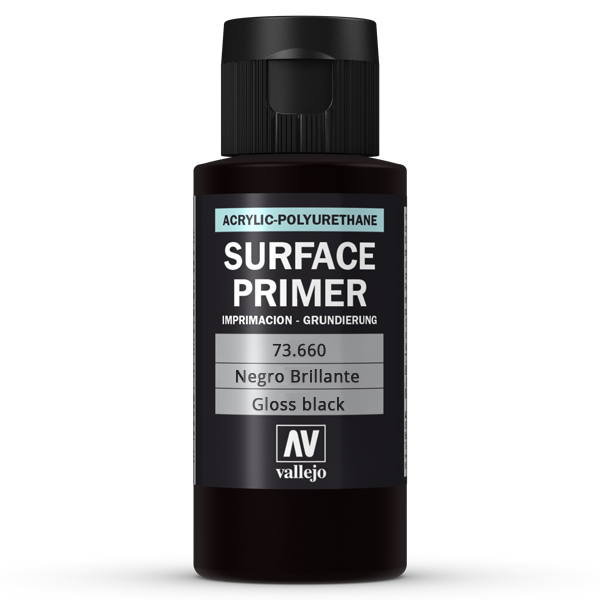 73660 Vallejo Surface Primer - Gloss Black Primer, 60ml