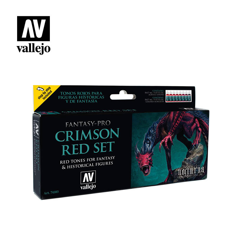 74103 Fantasy-Pro Set - Crimson Red (8x17ml)