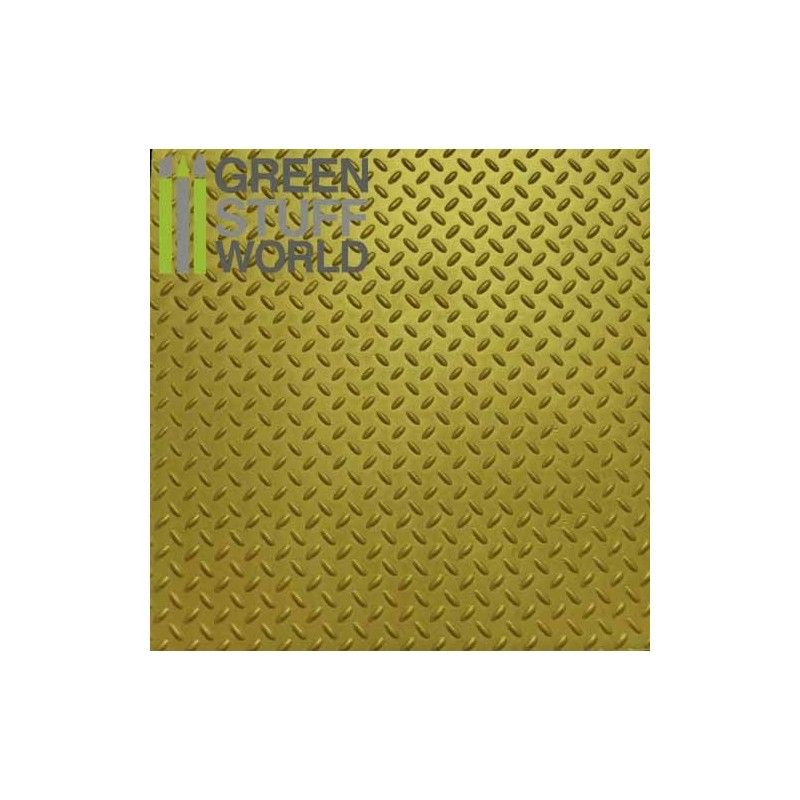 ABS Plasticard A4 - 3mm DIAMOND Thread Texture Sheet