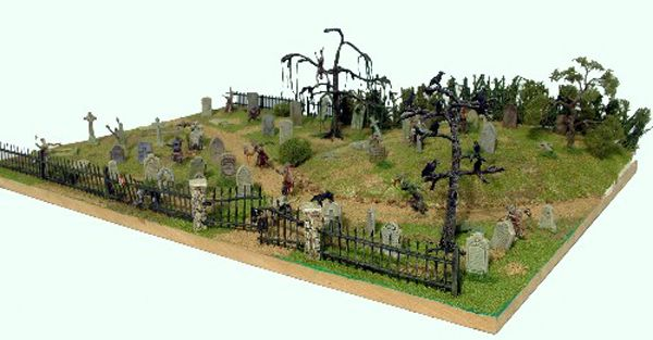 GRAVESTONES & CROWS, 28MM SCALE