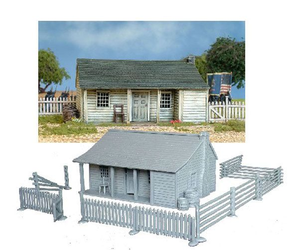NORTH AMERICAL FARMHOUSE 1750-1900, 28MM SCALE