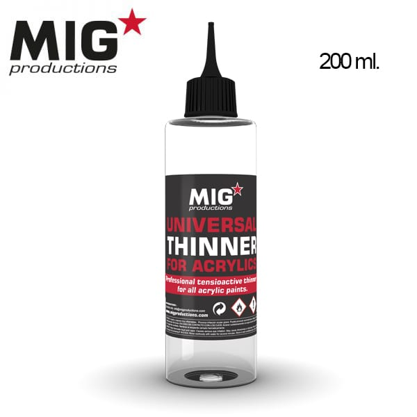 UNIVERSAL THINNER FOR ACRYLICS, 200ML