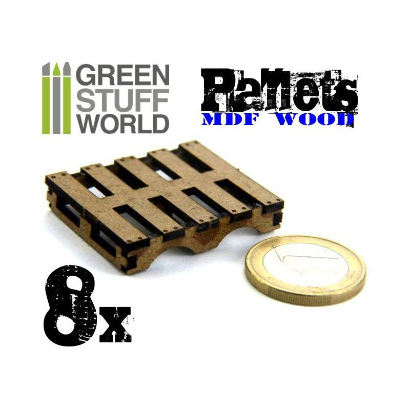 Pallets, Laser Cut, Pack of 8