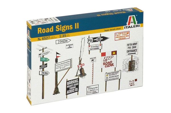 W.W.II ROAD SIGNS, 1:35 SCALE