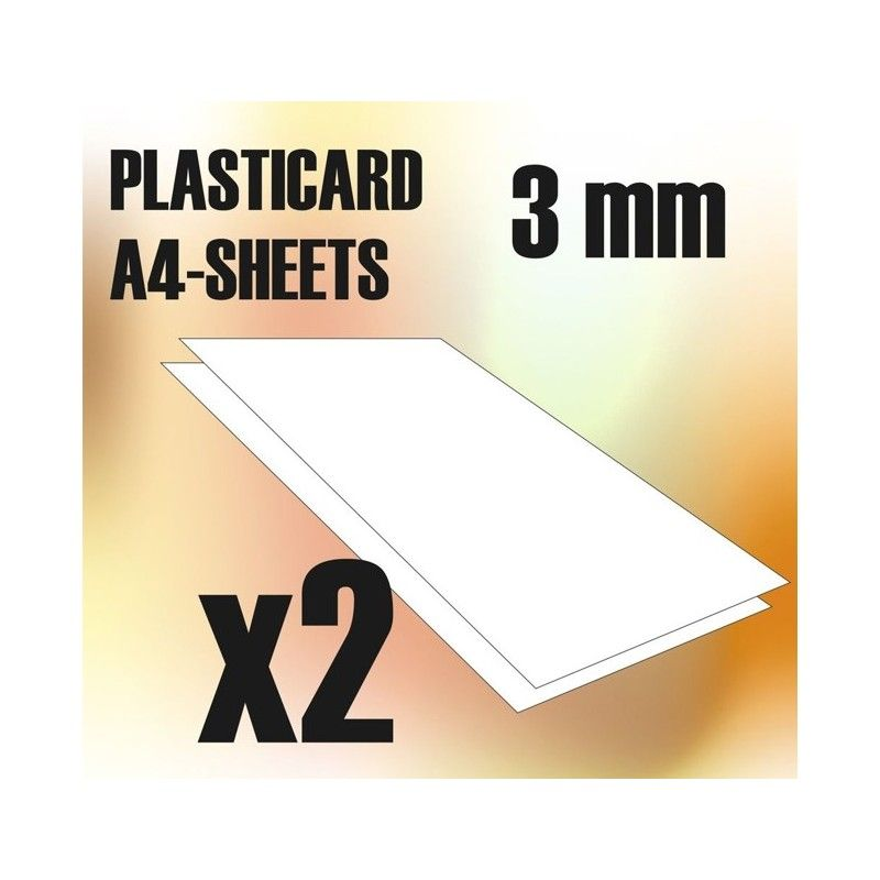 ABS Plasticard A4 - 3mm COMBO, 2 sheets