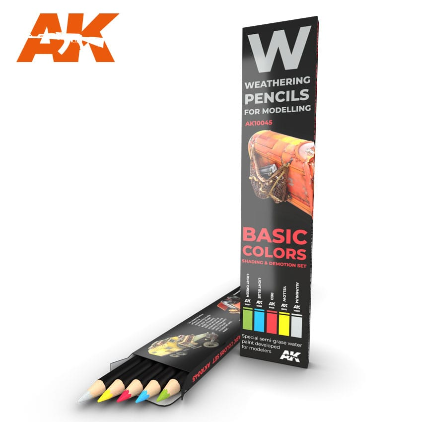 BASIC COLORS: SHADING & DEMOTION SET, WATERCOLOUR PENCIL SET
