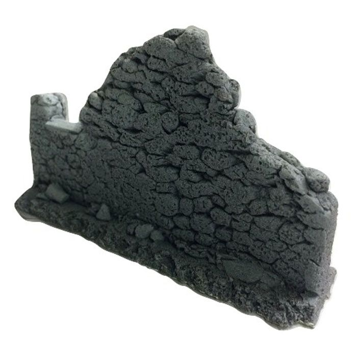 BATTLEZONE 25/28MM DAMAGED STRAIGHT WALL - TYPE 1