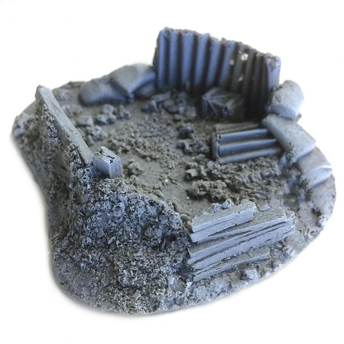 BATTLEZONE 25/28MM FOXHOLE, SMALL, TYPE 3, BATTLE ZONE