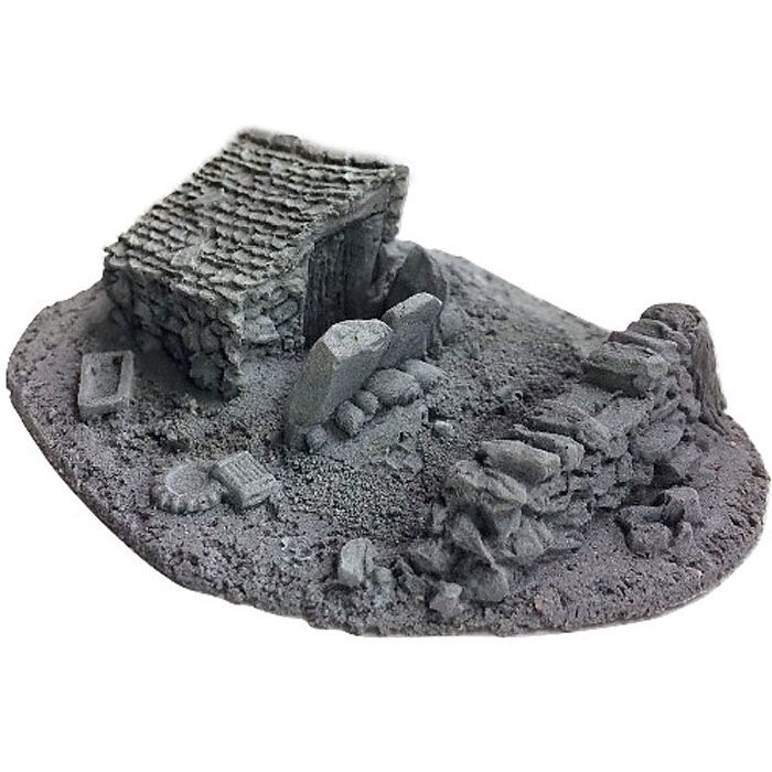 BATTLEZONE 25/28MM SMALL DERELICT BUILDING - TYPE 10