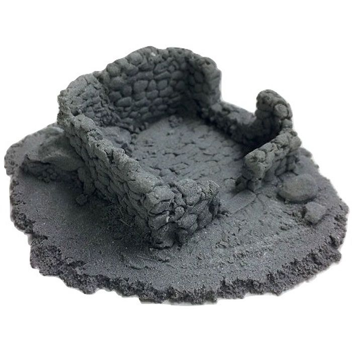 BATTLEZONE 25/28MM SMALL DERELICT BUILDING - TYPE 5