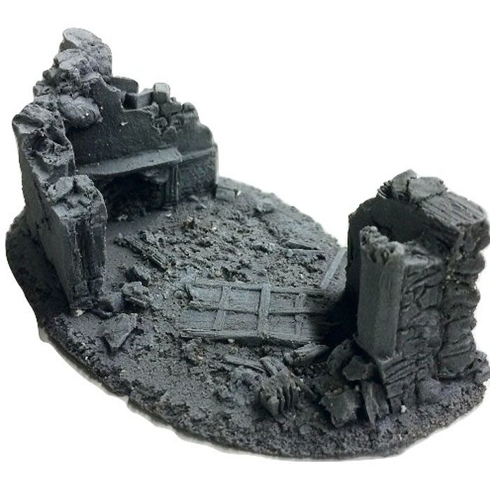 BATTLEZONE 25/28MM SMALL DERELICT BUILDING - TYPE 6