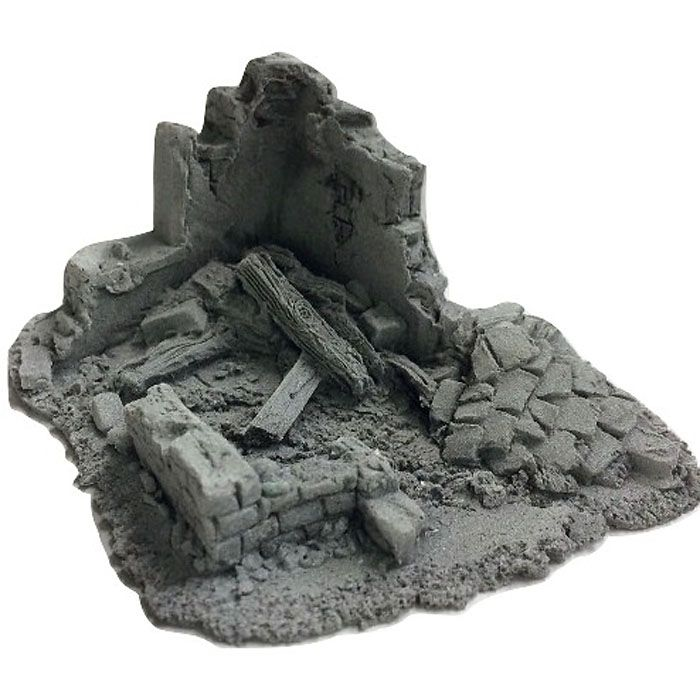 BATTLEZONE 25/28MM SMALL DERELICT BUILDING - TYPE 7