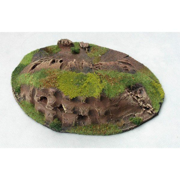 BOMBED SKIRMISH HILL, READY PAINTED, 28MM